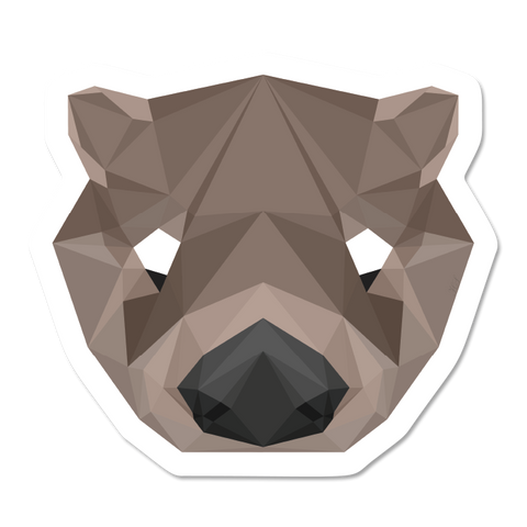 Geometric Otter Sticker