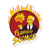 Flaming Scomo's Sticker