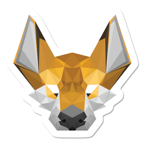 Geometric Fox Sticker