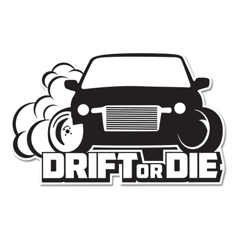 Drift or Die Stickers