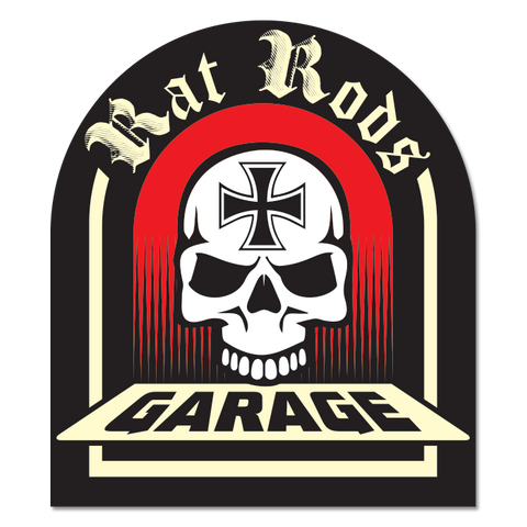 Rat Rods Garage Sticker