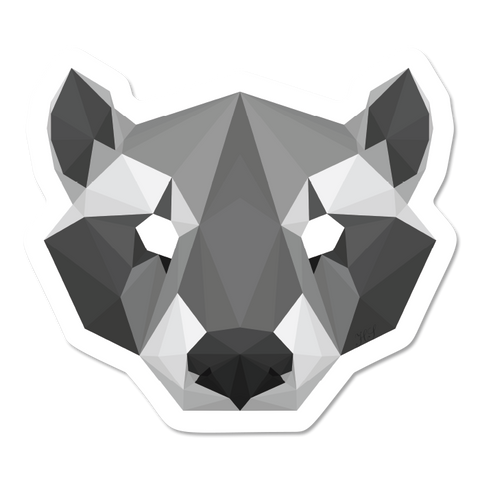 Geometric Racoon Sticker