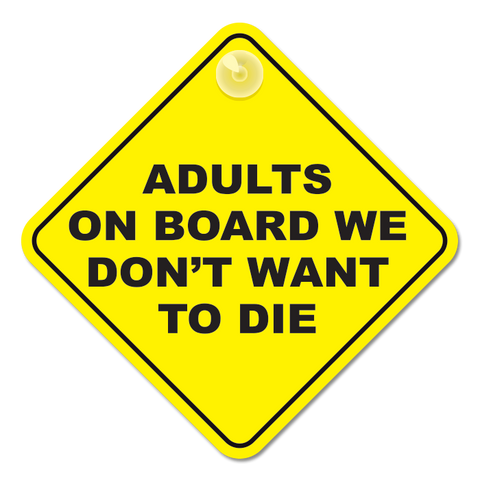 Adults on Board Sticker