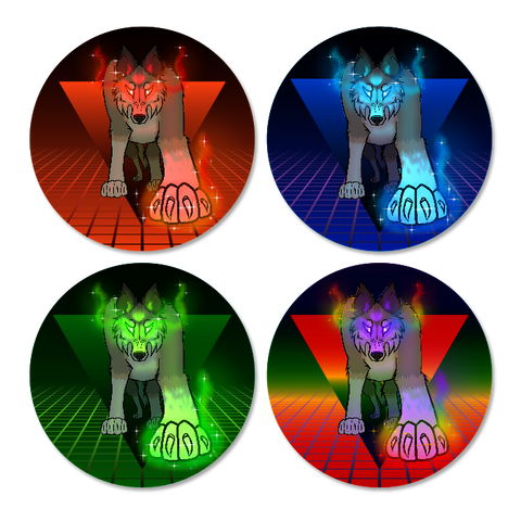Rising Wonder Wolf Illusion Button Pack