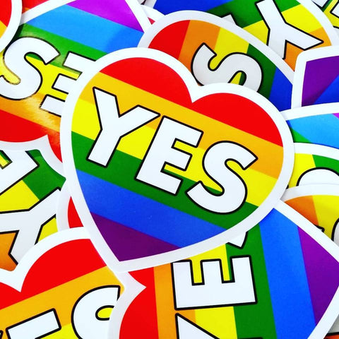 YES Equality Sticker