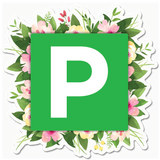 L Plate and P Plate Floral Stickers