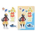 Animal Crossing: Summer Sticker Sheet