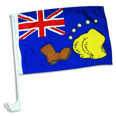 THE BOOT Australian Car Flag Single