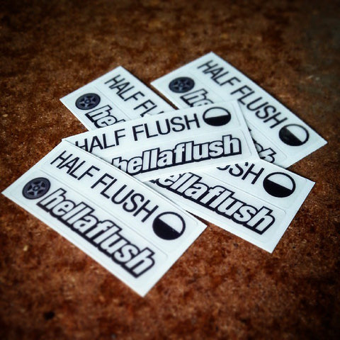 Half Flush / Hellaflush sticker set