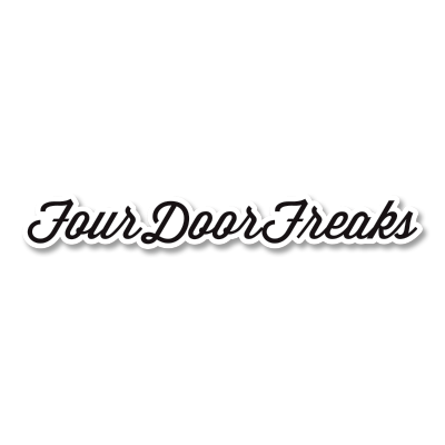 4DOORfreaks Printed Script Sticker - Small