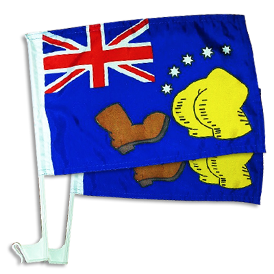 THE BOOT Australian Car Flag Pair