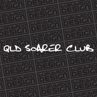 QLD Soarer Club Lettering Sticker