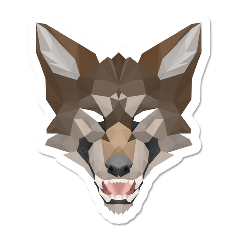 Geometric Werewolf Sticker