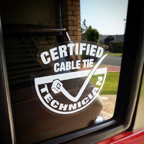 Cable Tie Technician Sticker