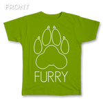 Furry Paw Outline Tee