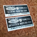 Datsun Paint Code Sticker