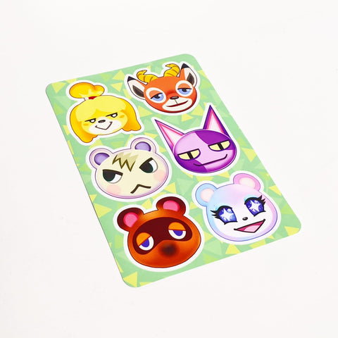 Niftjie Animal Crossing Sticker Sheet