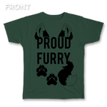 Proud Furry Clear Tips Tee