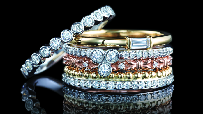 Guy Edward Family Jewelers offers a large and unique selection of his and hers weddings bands.