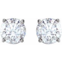 Load image into Gallery viewer, Round Diamond Studs