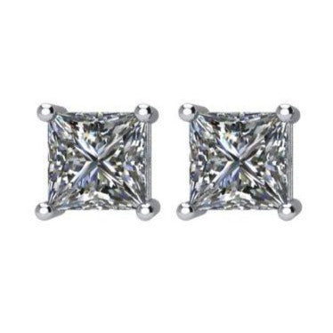 Princess-cut Diamond Studs