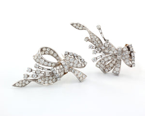 Vintage Diamond Convertible Clip-Brooches