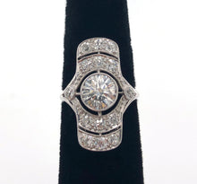 Load image into Gallery viewer, Vintage Platinum Deco Diamond Ring