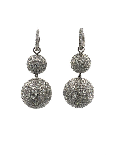 Diamond Disco Ball Earrings
