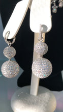 Load and play video in Gallery viewer, Diamond Disco Ball Earrings sparkle movement video