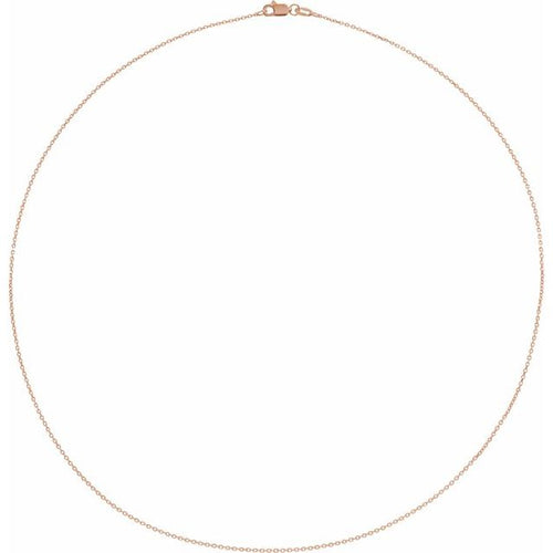 Rose Gold Diamond-cut Cable Chain