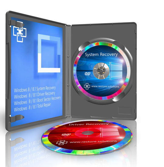 Restore Solutions Windows 8.1 recovery media retail box