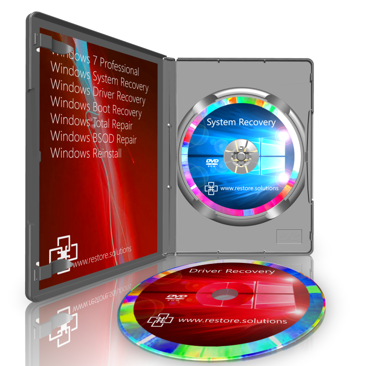 Windows 7 Recovery DVD Disk Set
