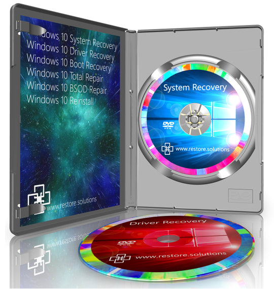 Restore Solutions Windows 10 recovery media retail box