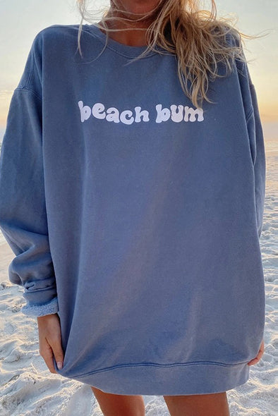 Casual Round Neck Long Sleeve Printed Sweatshirt