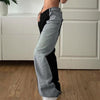High waist slim and loose style fashionable wild casual jeans long pants
