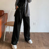 Street solid color casual wide-leg pants