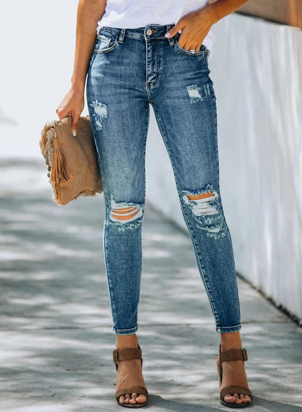 Bailey High Rise Distressed Skinny