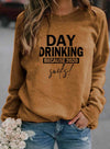【10% OFF CODE : SAVE10】Solid Letter Print Long Sleeve Long Sleeve Sweatshirt