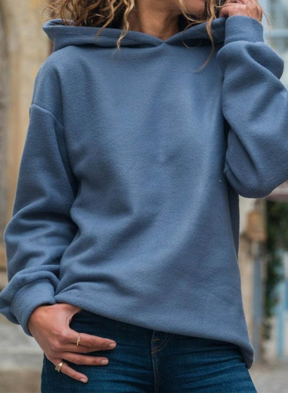 Loose Hooded Pullover  Fashion Sweater