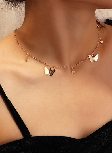 Simple Fashion Butterfly Necklace