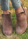Gray Womens Wedge Boots Suede Fashion Ankle Booties LC12230-11