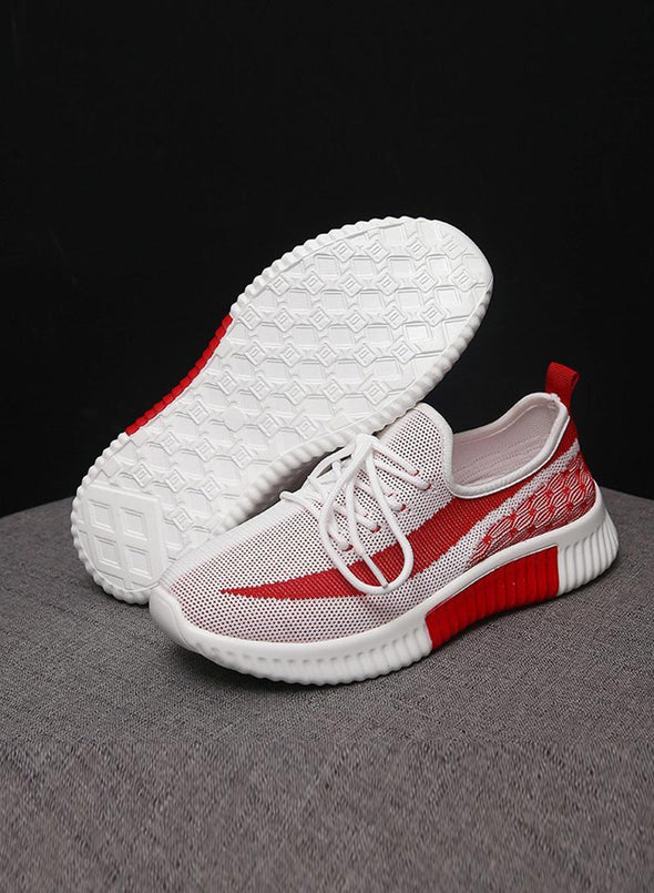 Rose Breathable All-Match Running Flying Woven Sneakers LC12258-6