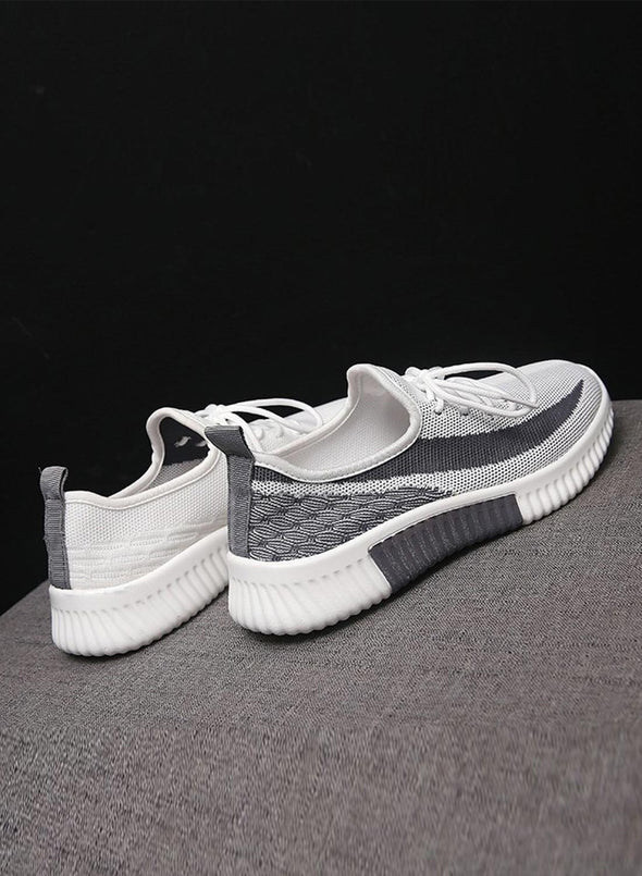 Gray Breathable All-Match Running Flying Woven Sneakers LC12258-11