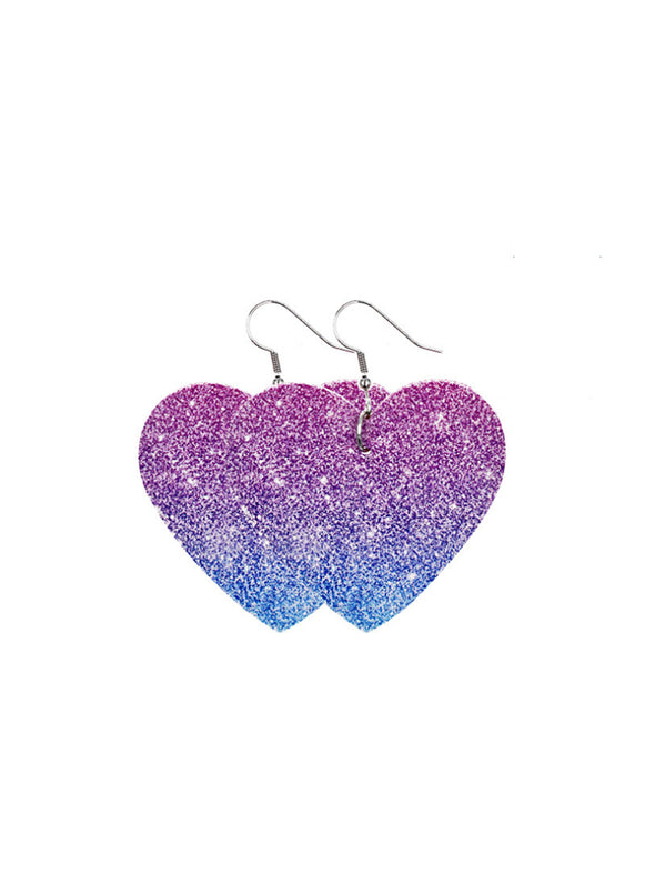 Purple Women's Earrings Bear Teardrop-shaped PU Cute Fashion Earrings LC011119-108