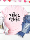 Pink Women's T-shirts Letter Holiday Print Short Sleeve Round Neck Festival Daily T-shirt LC2522919-10