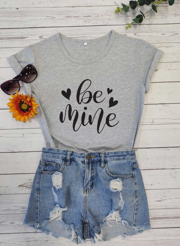 Gray Women's T-shirts Letter Holiday Print Short Sleeve Round Neck Festival Daily T-shirt LC2522919-11