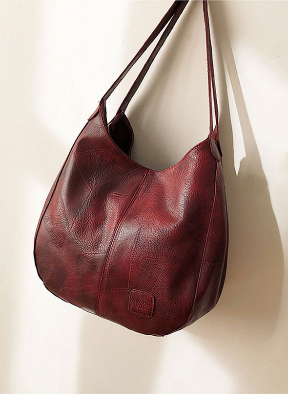 Red Women's Shoulder Bags Simple Solid Color Multi-compartment Single Shoulder Bag LC003294-3