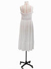 White Women's Maxi Dresses Solid Sleeveless Off Shoulder Ruffle Sexy Vintage Maxi Dress LC613925-1