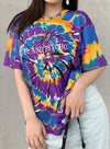 Purple Women's T-shirts Letter Multicolor Print Short Sleeve Round Neck Daily T-shirt LC2524098-8