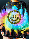 Multicolor Women's Sweatshirts Color Block Tiedye Long Sleeve Round Neck Daily Sweatshirt LC2537600-22
